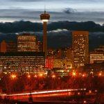 Calgary Tower Downtown Sunset