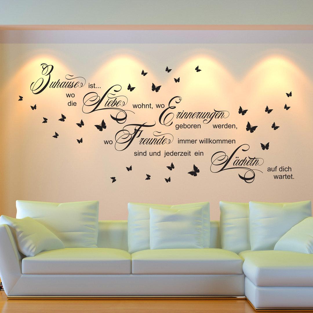 Wandtattoo Zuhause Ist Wo Liebe Wohnt Spruch Wand Bild