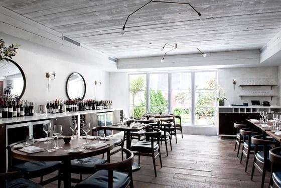 The Musket Room's dining room overlooks a pretty garden, where chef Matt Lambert grows micro-greens.