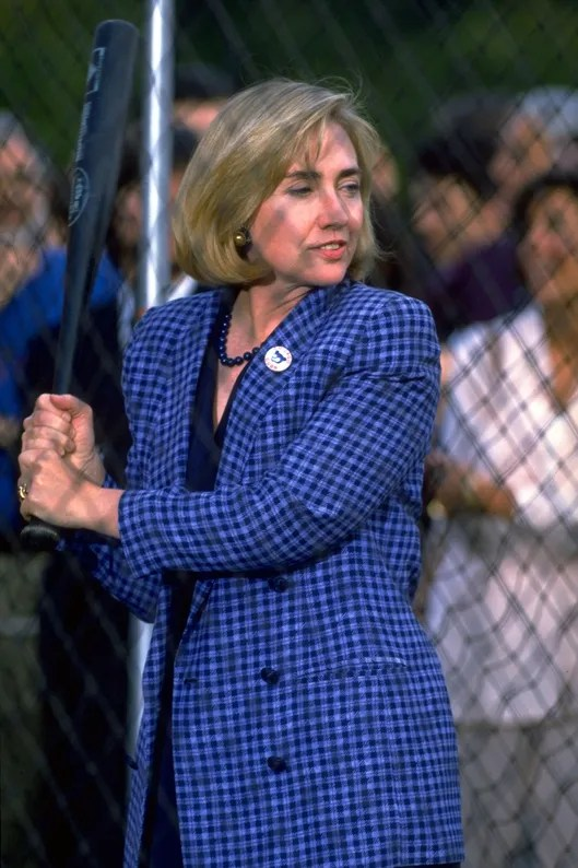Image result for hillary clinton baseball