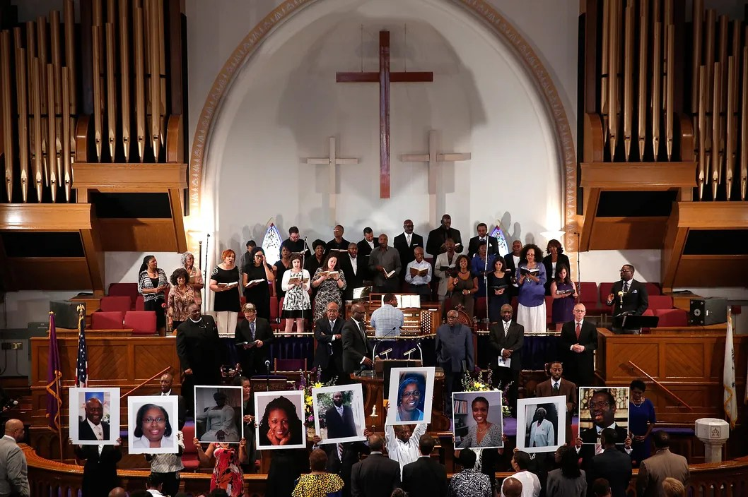 Vigil Held For Victims Of Charleston Church Shooting