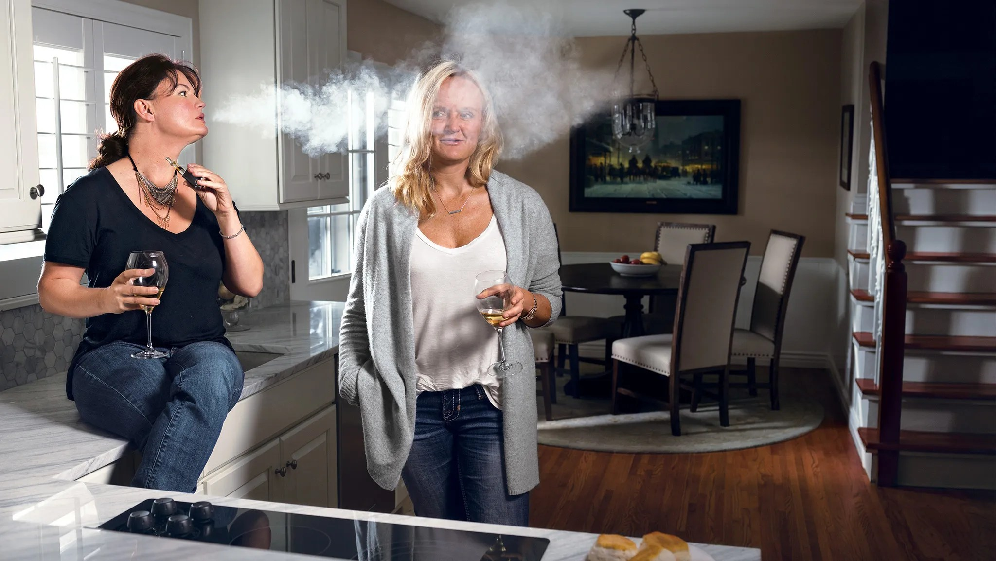 Image result for Suburban wife smoking weed