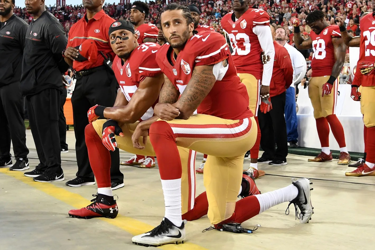 Image result for colin kaepernick protest