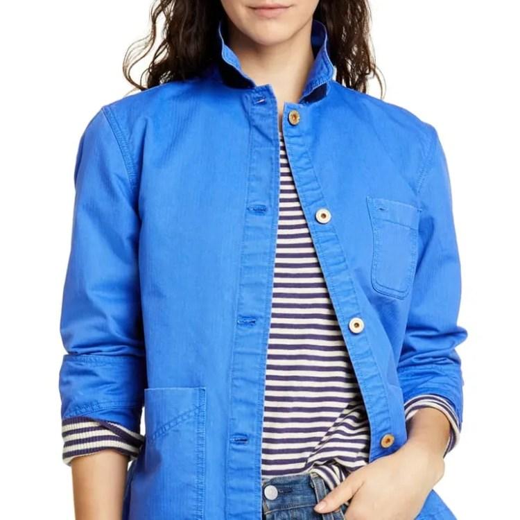 Alex Mill Cotton Herringbone Workers Jacket