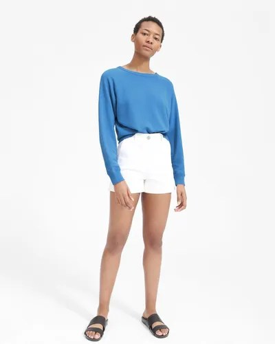 Everlane Lightweight French Terry Crew, Blue