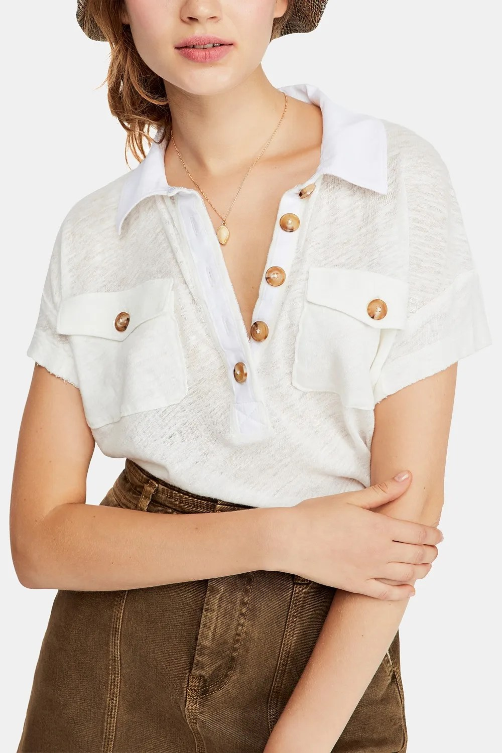 Free People Graceland Tee, Ivory