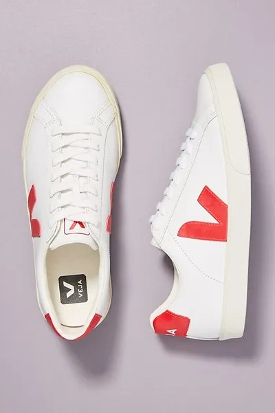 Veja Red Low-Top Sneakers