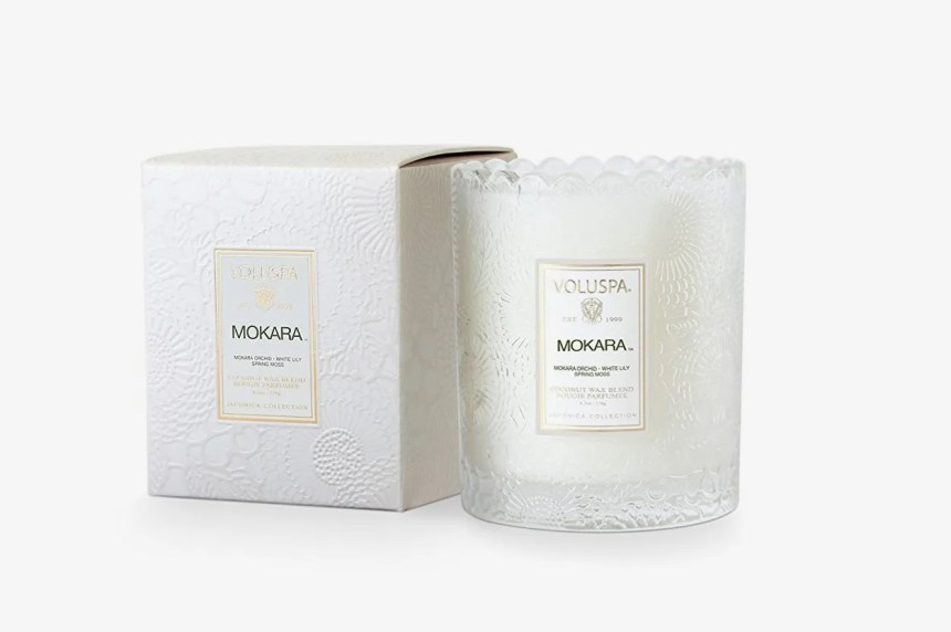 Voluspa Mokara Scalloped Edge Glass Candle