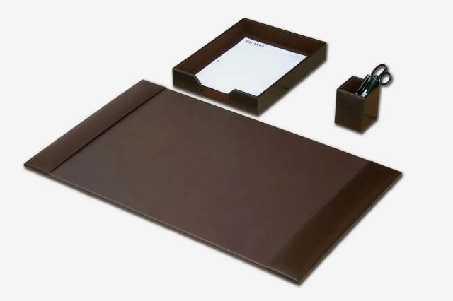 Dacasso Desk Accessory Set, Three-Piece