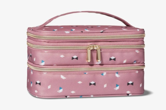 Sonia Kashuk Triple Zip Train Case Makeup Bag