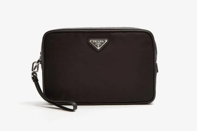 Prada Leather-Trimmed Nylon Washbag