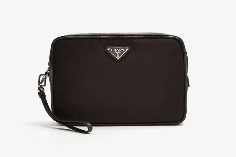 Prada Leather-Trimmed Nylon Washbag
