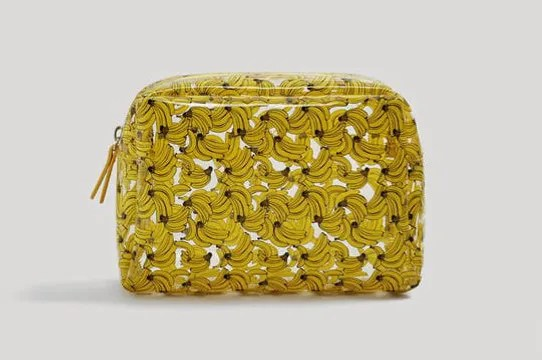Mango Printed Vinyl Cosmetic Bag