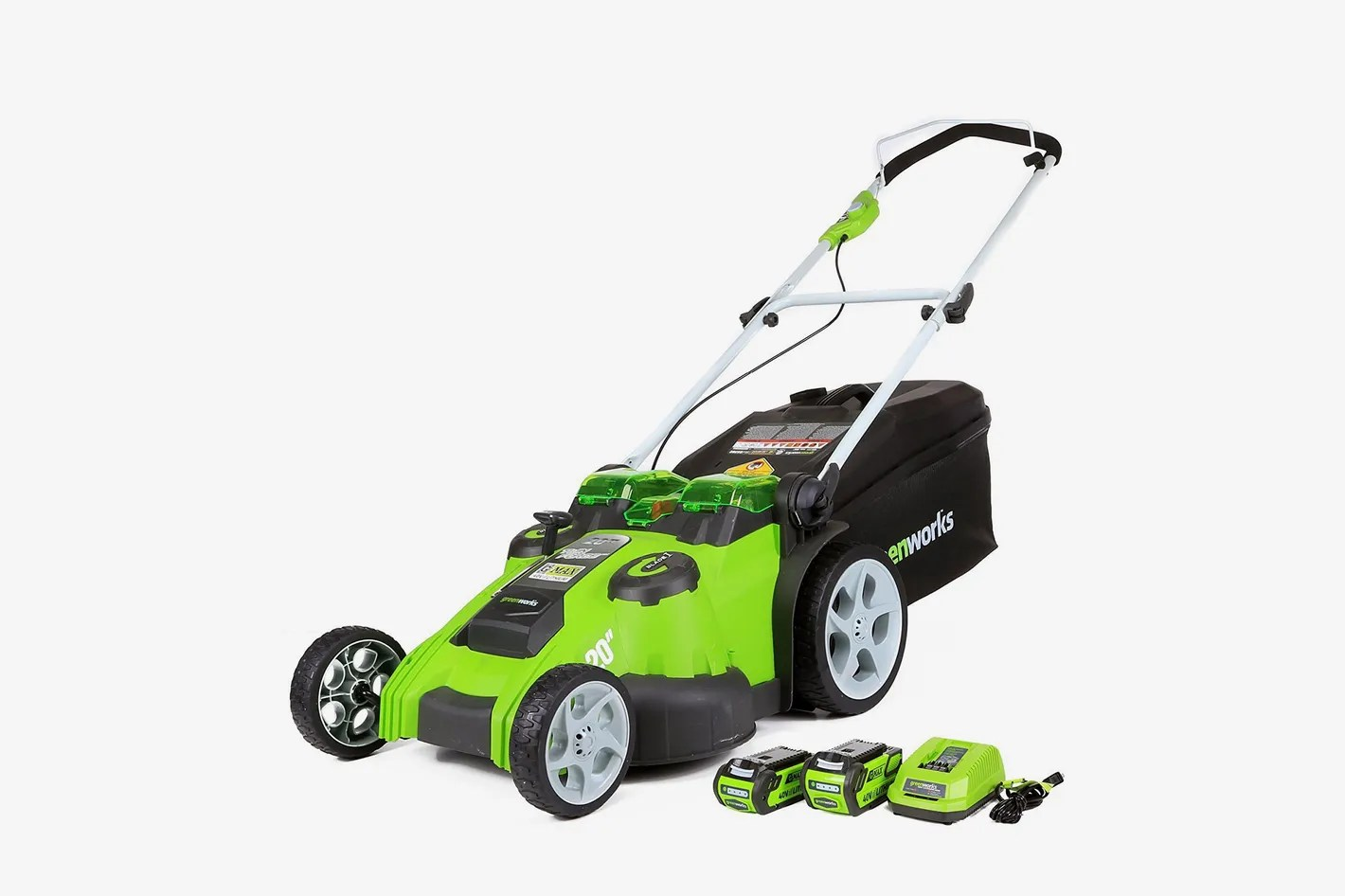 greenworks 20 inch 40v twin force cordless lawn mower