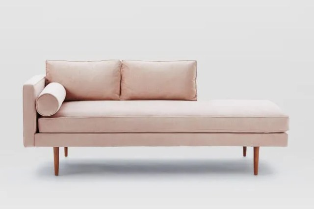 West Elm Monroe Blush Chaise Lounger