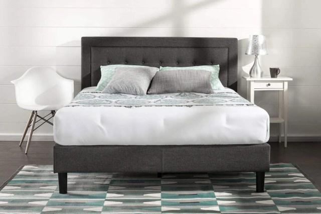 Zinus Upholstered Button Tufted Premium Platform Bed — Queen