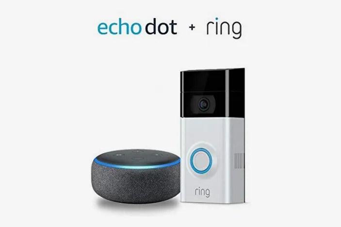 Ring Video Doorbell 2 with Echo Dot (3rd Gen)