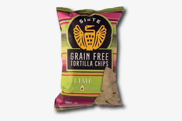 Siete Lime Grain Free Tortilla Chips, 5 oz bags