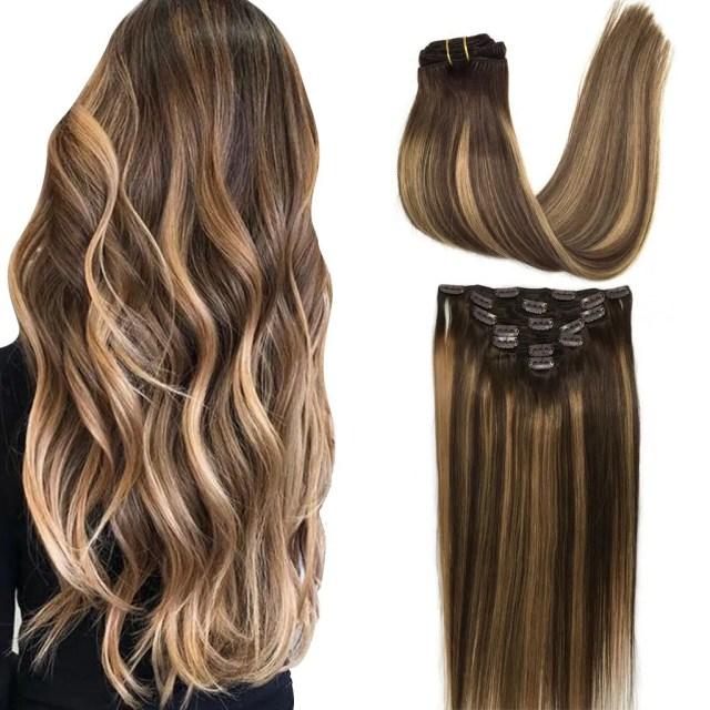 "Googoo 24"" Clip in Hair extensions, Ombre Honey Blonde, 120g, 7pcs"