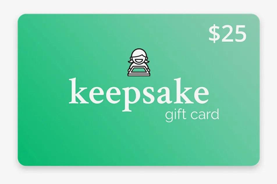 Keepsake Frames Gift Card
