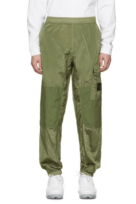 Stone Island Green Ripstop Cargo Pants