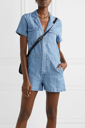 Madewell Cotton and Linen–Blend Playsuit
