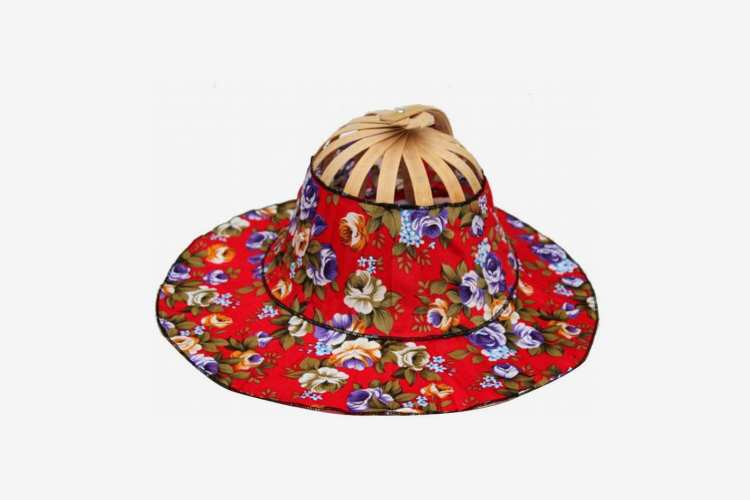 Oulii Two-in-One Portable Hand Fan and Sun Hat With Bamboo Frame