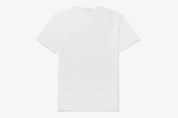 Sunspel White Cotton-Jersey T-Shirt