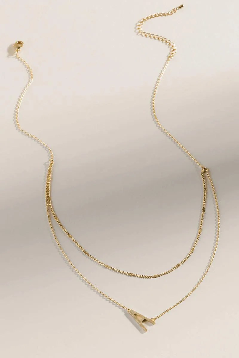 Francesca's Layered Initial Necklace