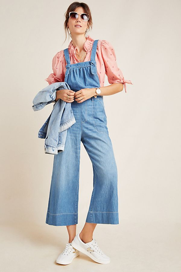Pilcro Wide-Leg Denim Jumpsuit