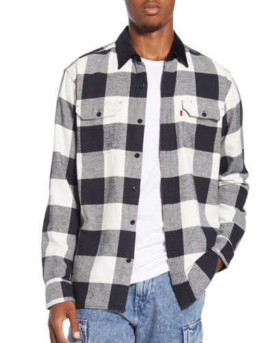 Levi's x  Justin Timberlake Regular Fit Button-Up Plaid Flannel Worker Shirt