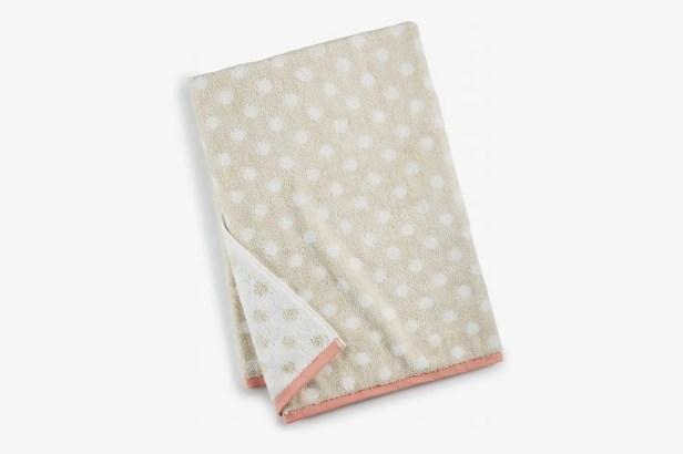 Martha Stewart Collection Cotton Dot Spa Fashion Bath Towel