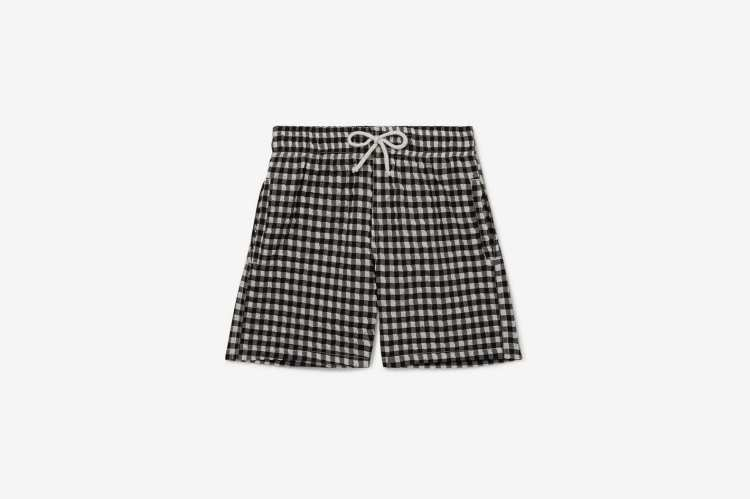Solid & Striped Kids Gingham Swim Shorts