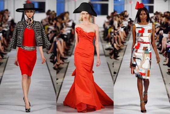 Resort Report: Oscar de la Renta Pairs Cubist-Inspired Dresses With Paper Hats