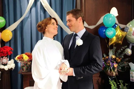Image result for 30 rock liz and criss wedding gif