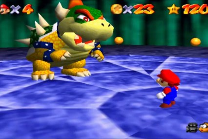 Super Mario 64 boss fight