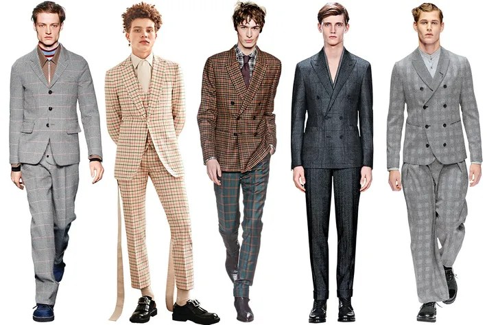 Best Fashion Wedding Suits for Grooms Checks