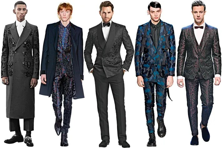 Best Fashion Wedding Suits for Grooms Brocade