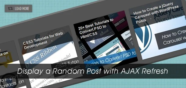 How to Display a Random Post with the help of AJAX