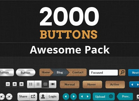 200 Web Buttons Pack