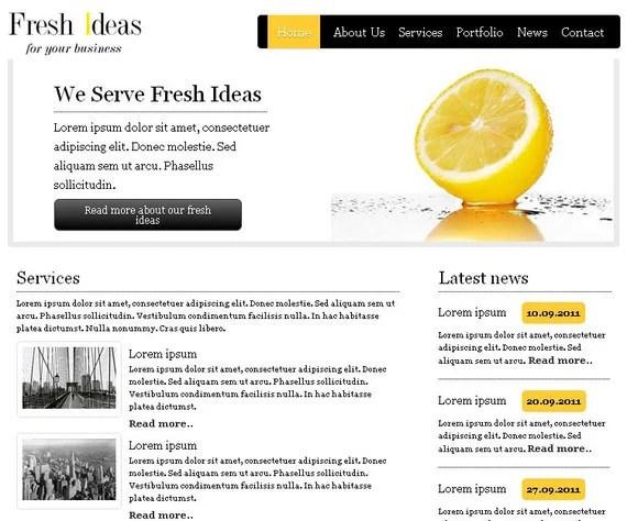 FreshIdeas HTML5 and CSS3 Template