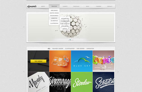 Dynamic: Free PSD Website Template