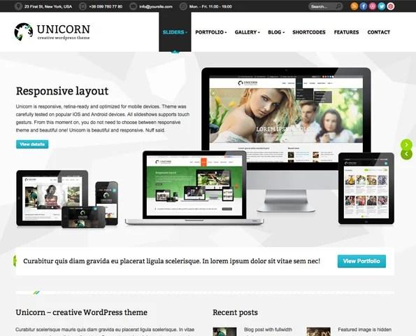 Unicorn — Multipurpose Retina Ready WP Theme