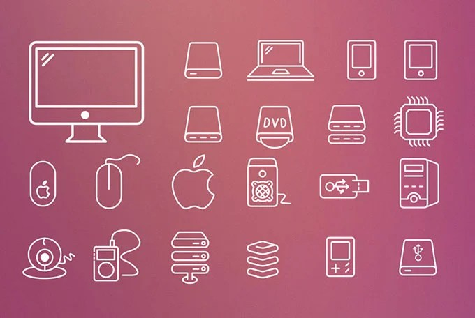 Outlines Icon Set