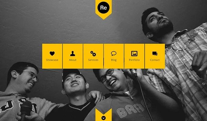 Renova flat WordPress theme