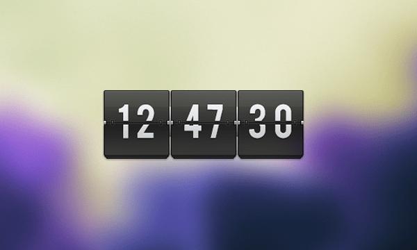 Freebie PSD Flipping Clock graphics