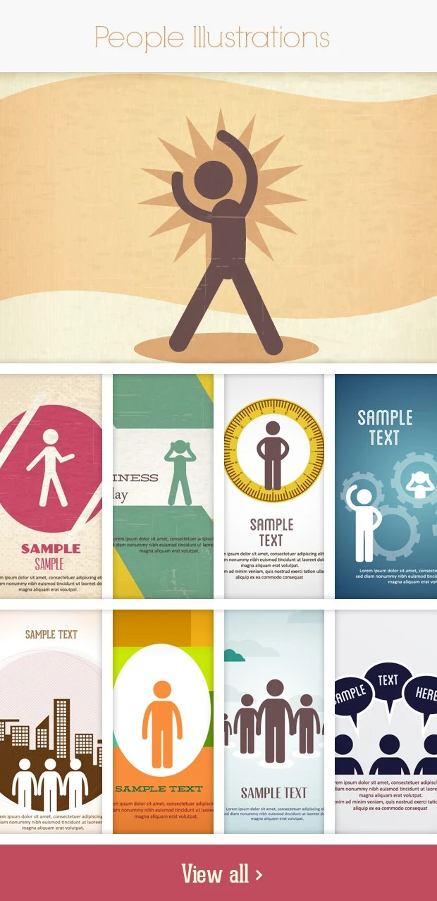 people small Deal of the Week: 600+ Top Quality Vector Illustrations – Only $49