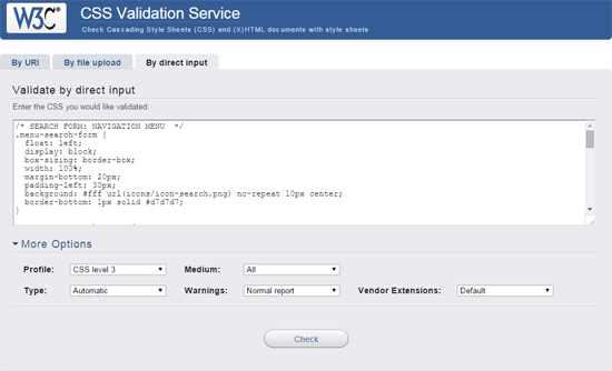 W3C-CSS-Validation-Service
