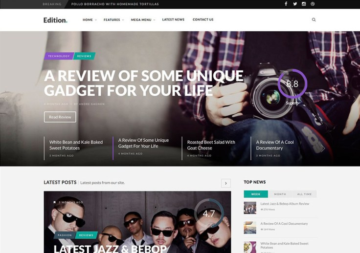 Edition - WordPress Review Themes