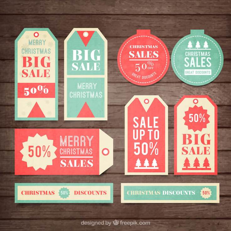 Christmas Sales Tags Collection